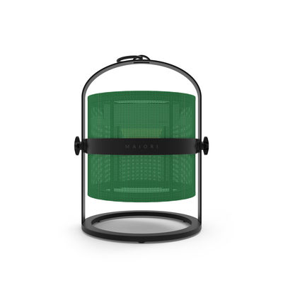 Lampe solaire La Lampe Petite LED / Hybride & connectée - Structure charbon - Maiori charbon,jade en métal