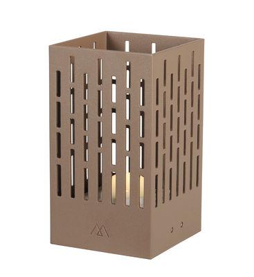 Luminaire - Lampes de table - Lampe solaire La Lampe Pose 04 / LED - Hybride & connectée - Maiori - Café - Aluminium