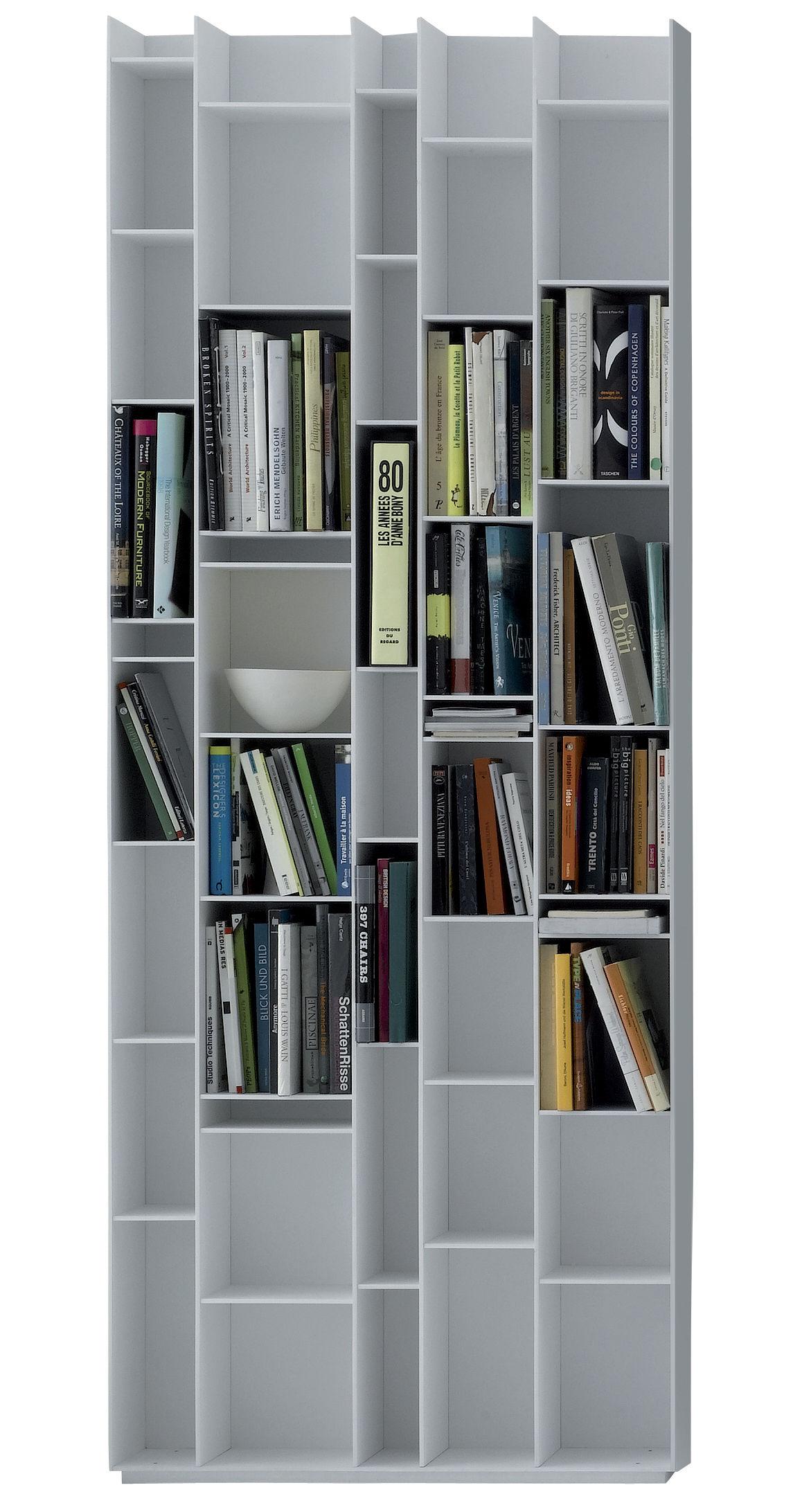 Arredamento - Scaffali e librerie - Libreria Random - MDF Italia - Bianco laccato - Fibra di legno laccata