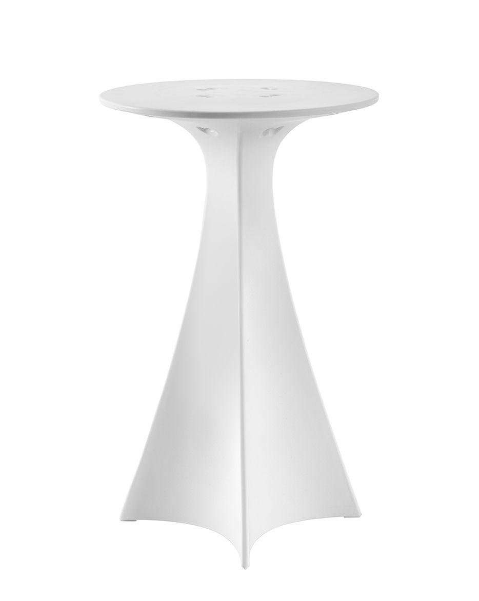 Mobilier - Mange-debout et bars - Mange-debout Jet / Ø 62 x H 100 cm - Slide - Blanc - Polyéthylène