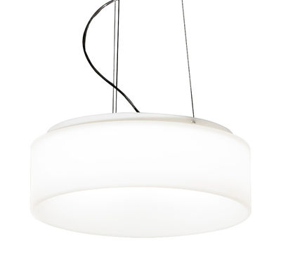 Lighting - Pendant Lighting - Hole-light Pendant - Ø 50 cm by Martinelli Luce - White - roto-moulded polyhene, Steel