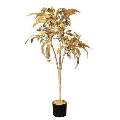 Interni - Vasi e Piante - Pianta artificiale Dracéna - / H 150 cm di & klevering - Oro - Materiale plastico