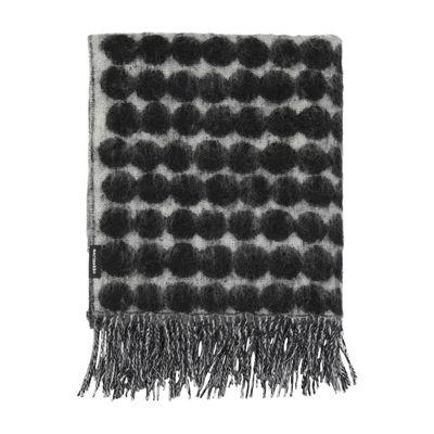 Decoration - Bedding & Bath Towels - Räsymatto Plaid - / 70 x 180 cm by Marimekko - Räsymatto / Black & white - Mohair, Wool