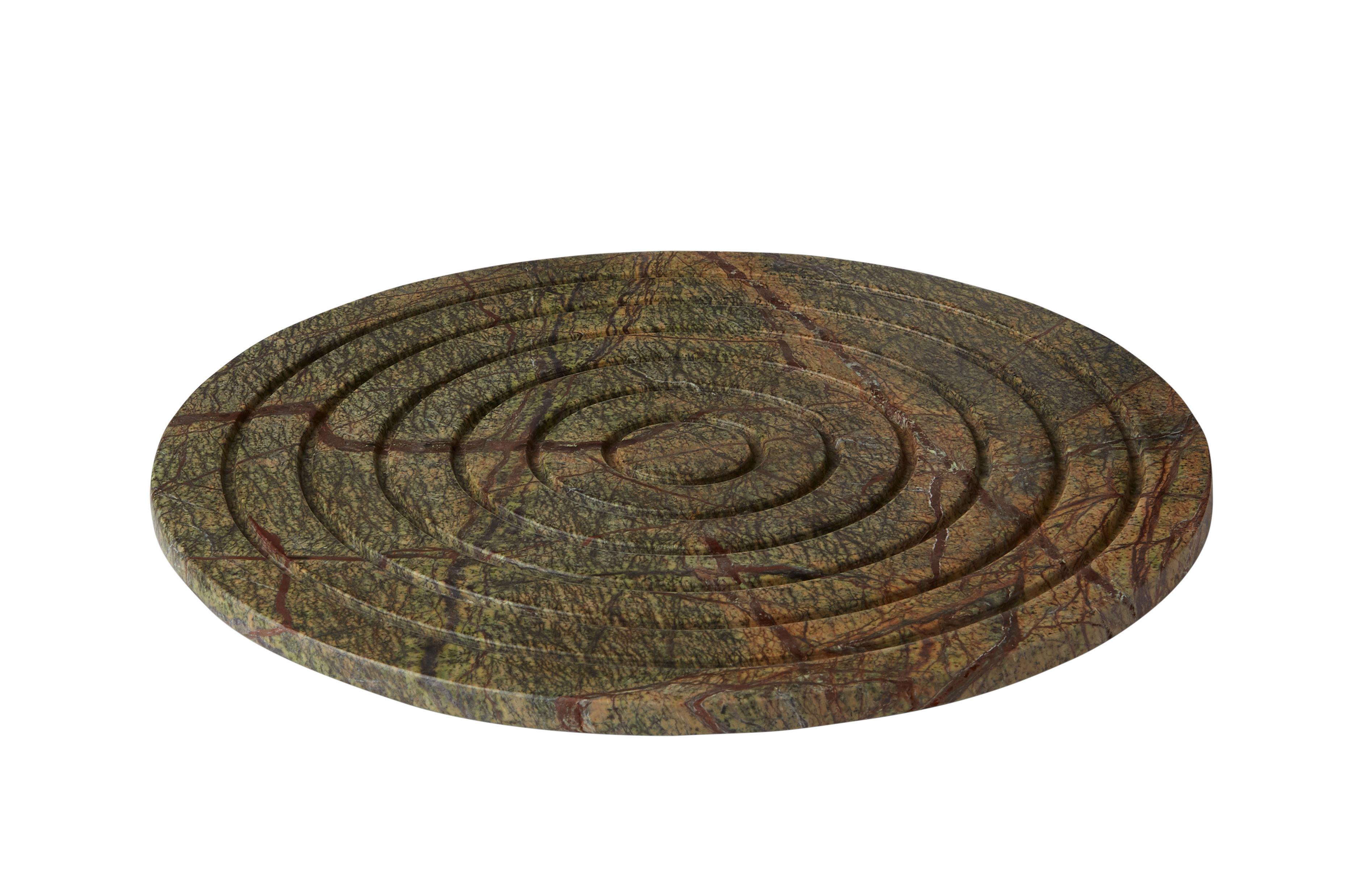 Arts de la table - Plateaux - Plateau Rock Rond / Marbre - Ø 28 cm - Tom Dixon - Rond / Vert - Marbre