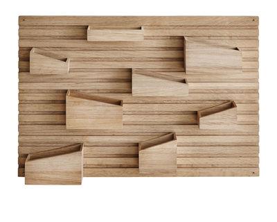 Arredamento - Raccoglitori - Scomparto a parete Input / 66 x 44 cm - Quercia - Woud - Chêne naturel - Rovere massello non trattato