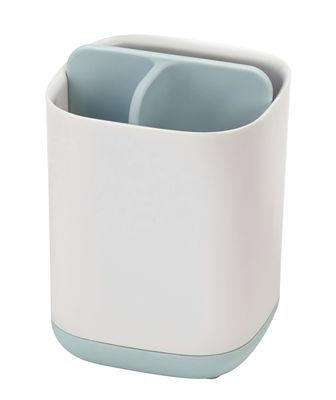 Porte-brosse à dents Easy-Store Small / 3 compartiments - Joseph Joseph blanc,bleu en matière plastique
