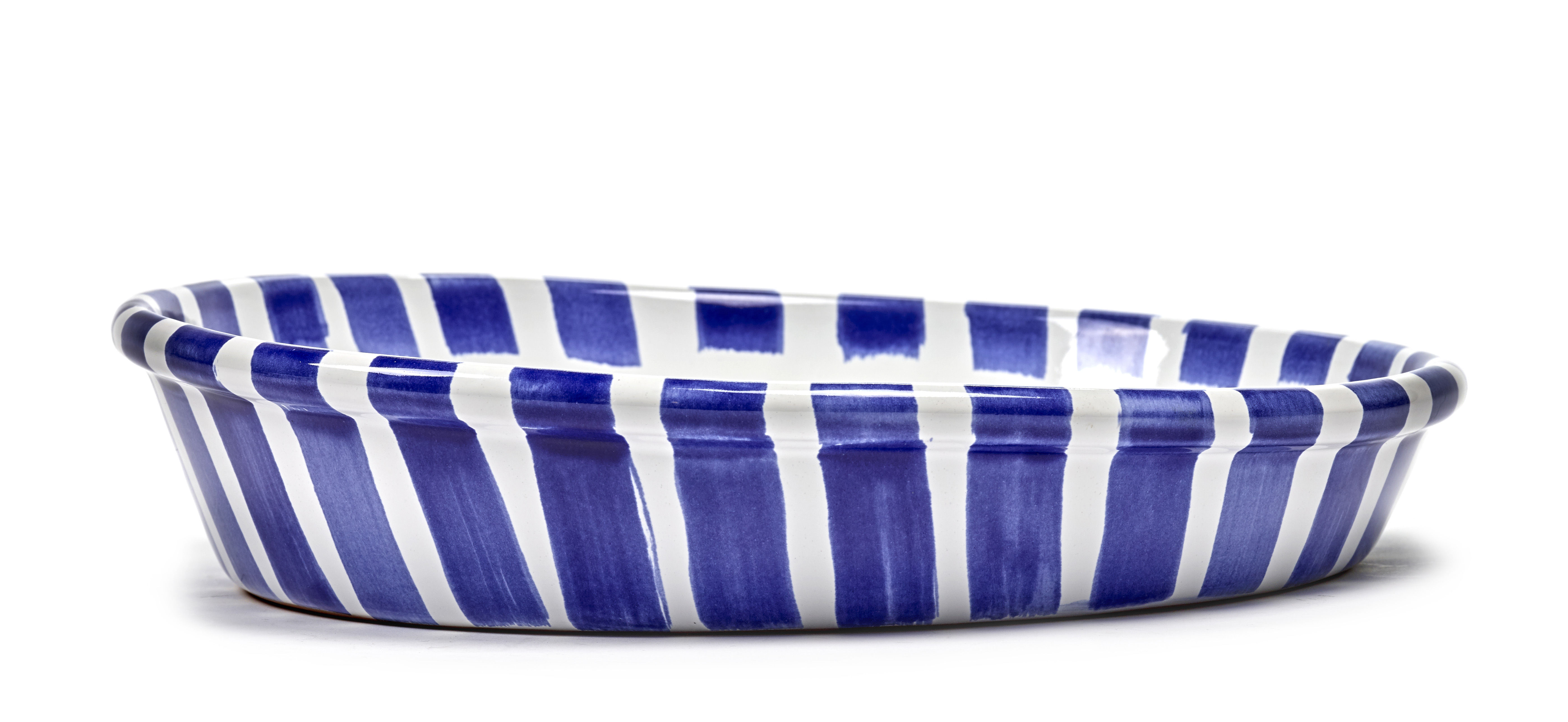 Arts de la table - Saladiers, coupes et bols - Saladier Large / Ø 39 cm - Serax - Ø 39 cm / Bleu - Céramique émaillée