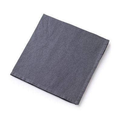 Serviette de table / 50 x 50 cm - Lin traité TEFLON®anti-tache - Au Printemps Paris gris en tissu
