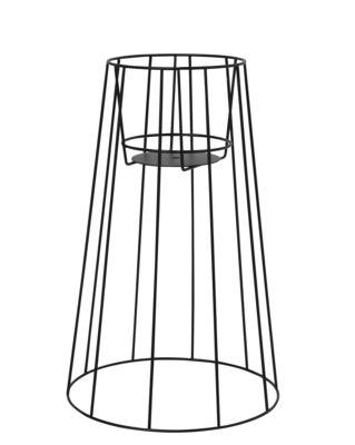 Outdoor - Vasi e Piante - Supporto per vaso di fiori Cibele Large / H 60 cm - OK Design per Sentou Edition - Nero - Metallo