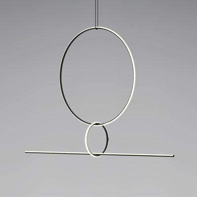Suspension Arrangements 3 LED / 3 éléments - H 140 x L 170 cm - Flos blanc/noir en métal