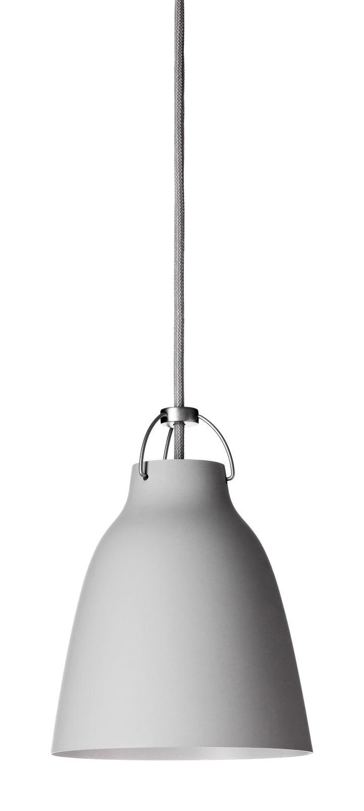 Luminaire - Suspensions - Suspension Caravaggio Small / Ø 16,5 cm - Lightyears - Gris clair mat / Câble gris - Métal laqué mat