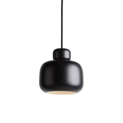 Luminaire - Suspensions - Suspension Stone Small / Métal - Ø 16 x H 15 cm - Woud - Noir - Métal peint