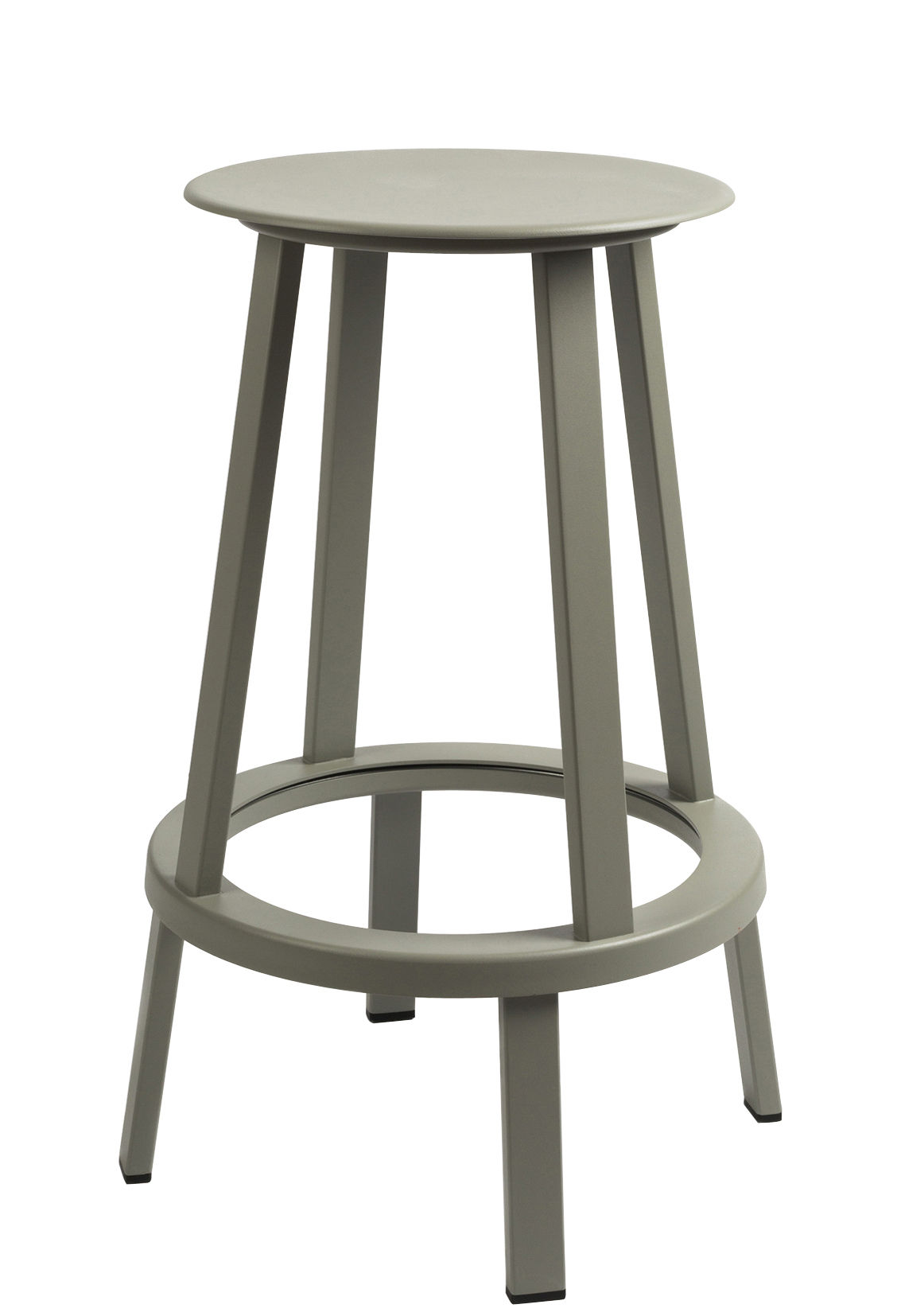 Furniture - Bar Stools - Revolver Swivel bar stool - H 65 cm - Metal by Hay - Grey - Steel xith epowy paint