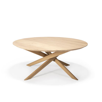 Mobilier - Tables basses - Table basse Mikado / Ovale - Chêne massif / 143 x 67 cm - Ethnicraft - Chêne - Chêne massif