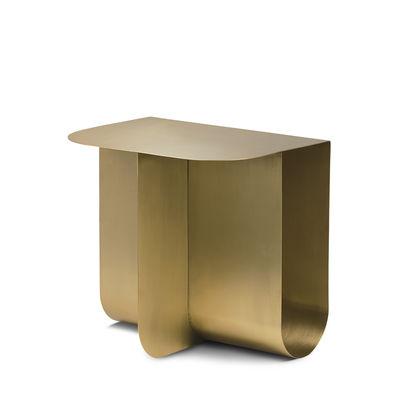 Table d'appoint Mass / 40 x 30 cm - Métal / Porte-revues intégré - Northern or/métal en métal