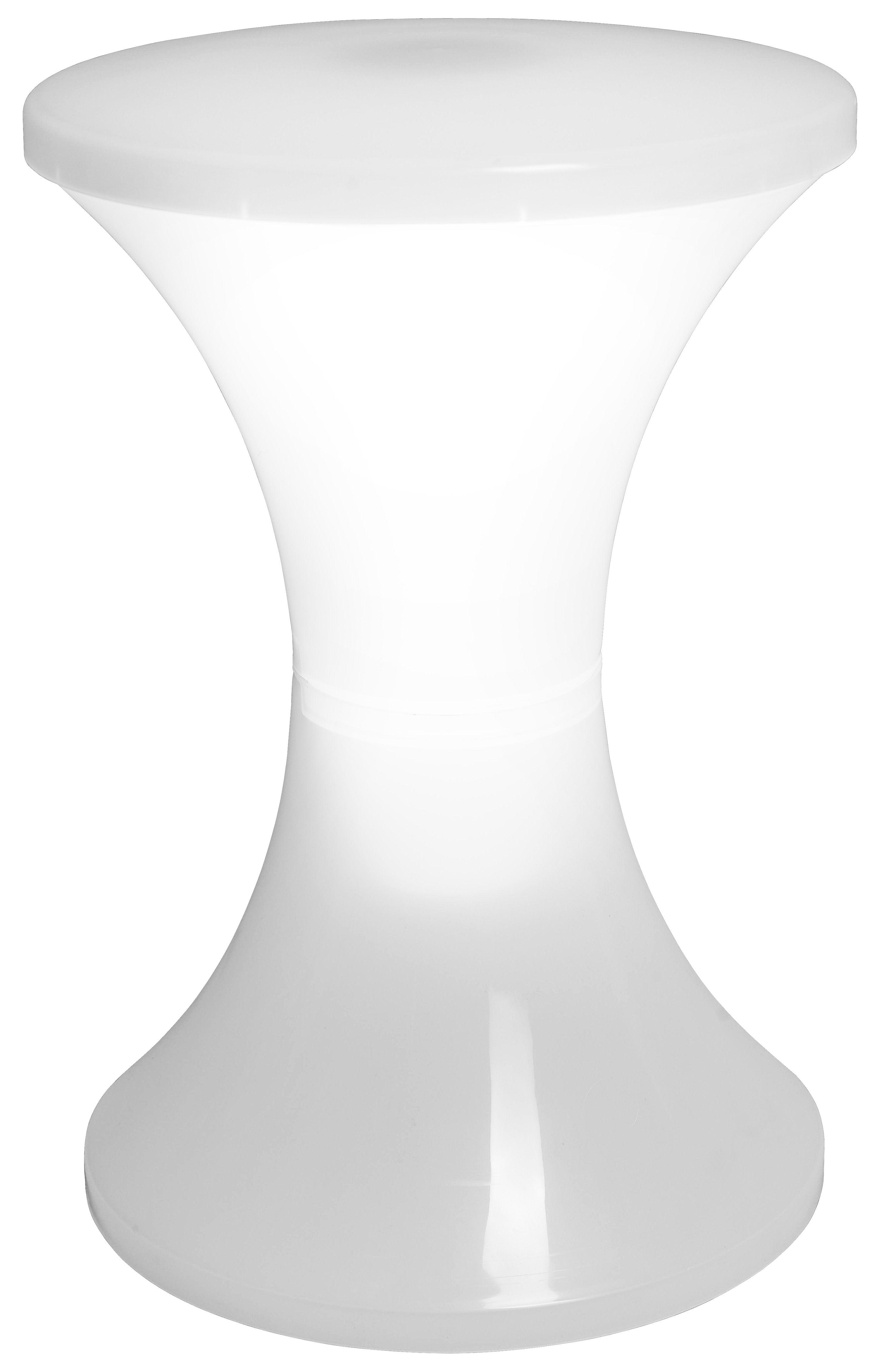 Mobilier - Mobilier Kids - Tabouret lumineux Tamlight LED - Stamp Edition - Blanc - Polypropylène