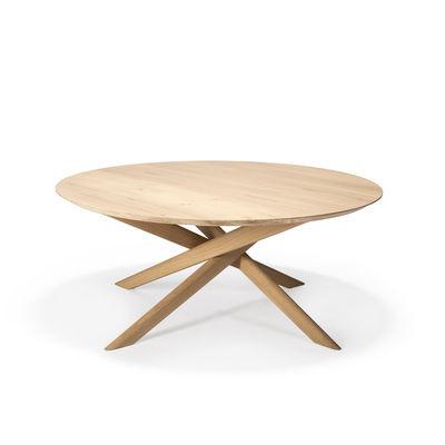 Arredamento - Tavolini  - Tavolino Mikado - / Ovale - Rovere massello / 143 x 67 cm di Ethnicraft - Rovere - Rovere massello