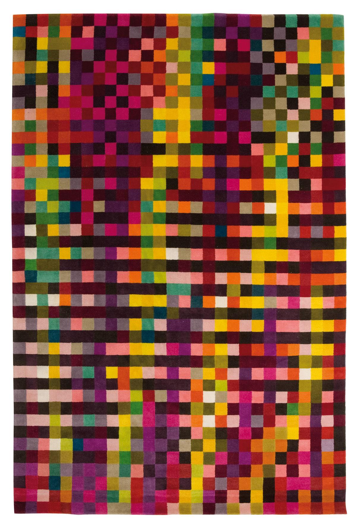 Möbel - Teppiche - Digit 1 Teppich 200 x 300 cm - Nanimarquina - Leuchtende Farben / 200 x 300 cm - Wolle