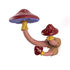 Mushroom Wall coat rack - / 3 mushroom-shaped hooks - H 16 cm by Seletti
