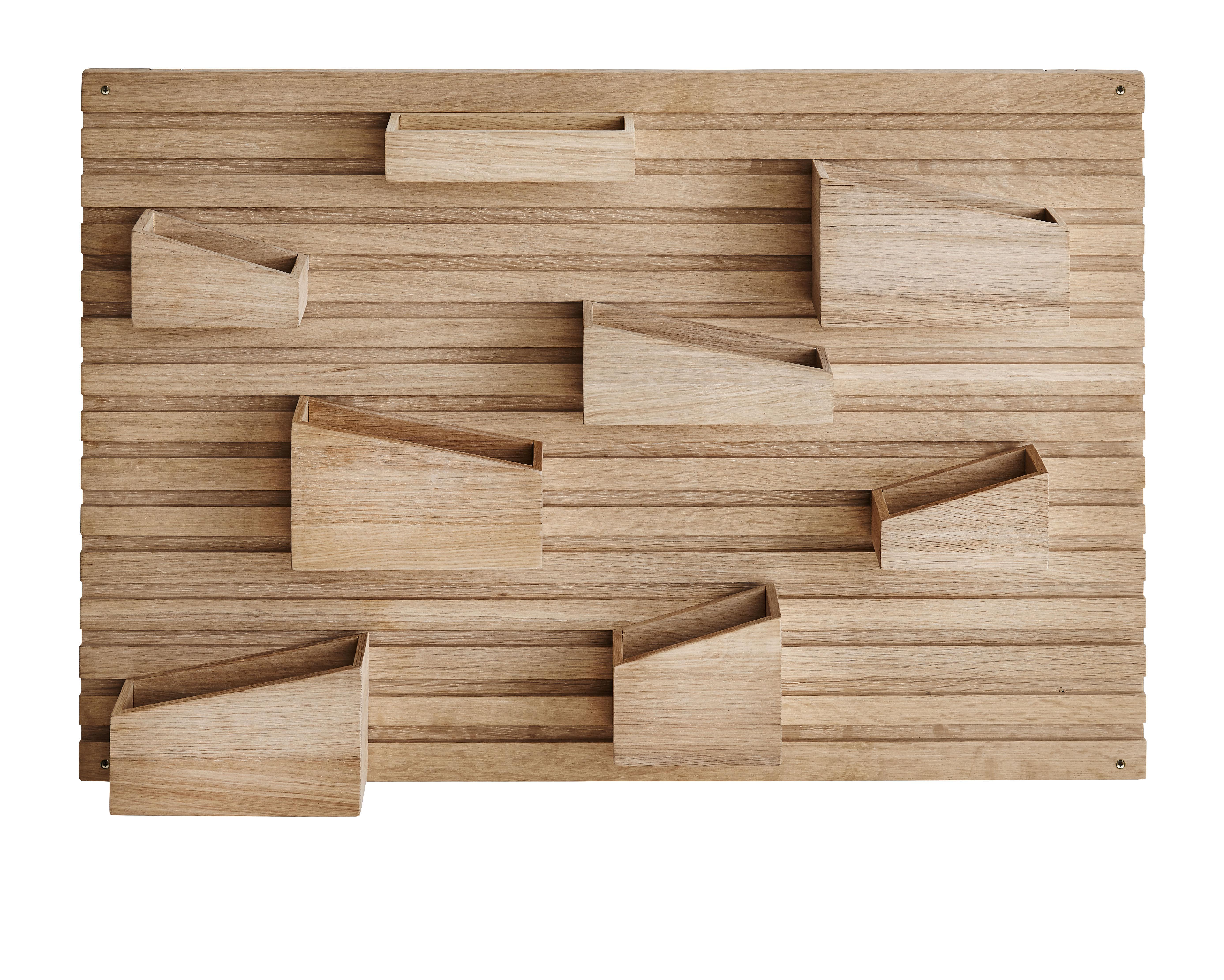 Möbel - Aufbewahrungsmöbel - Input Wandablage / 66 x 44 cm - Eiche - Woud - Eiche natur - Massiveiche, unbehandelt