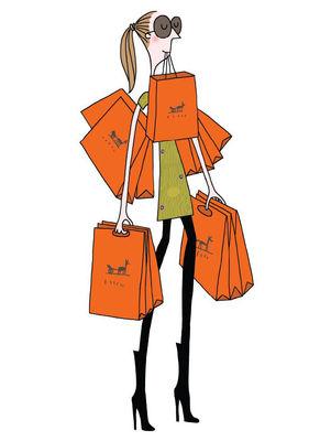 Affiche Soledad - Sac orange / 30 x 40 cm - Image Republic multicolore en papier