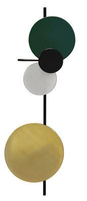 Luminaire - Appliques - Applique avec prise Planet Lamp / Modulable - H 98 cm - Branchement secteur - PLEASE WAIT to be SEATED - Vert cèdre - Acier laqué, Aluminium, Laiton