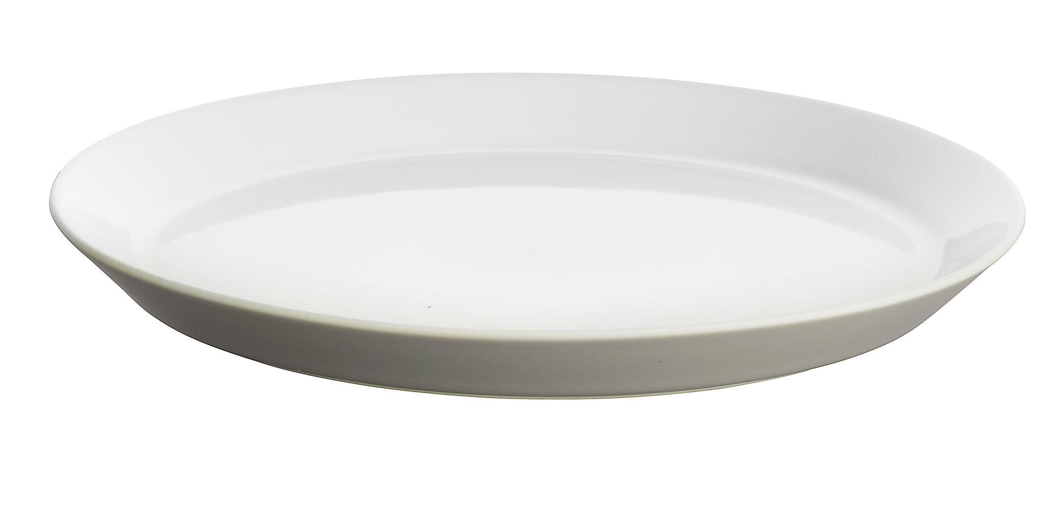 Arts de la table - Assiettes - Assiette Tonale / Ø 26,5 cm - Alessi - Gris clair / intérieur blanc - Céramique Stoneware