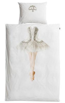 Ballerina Bettwäsche-Set / 2-teilig - 140 x 200 cm - Snurk - Weiß,Silber