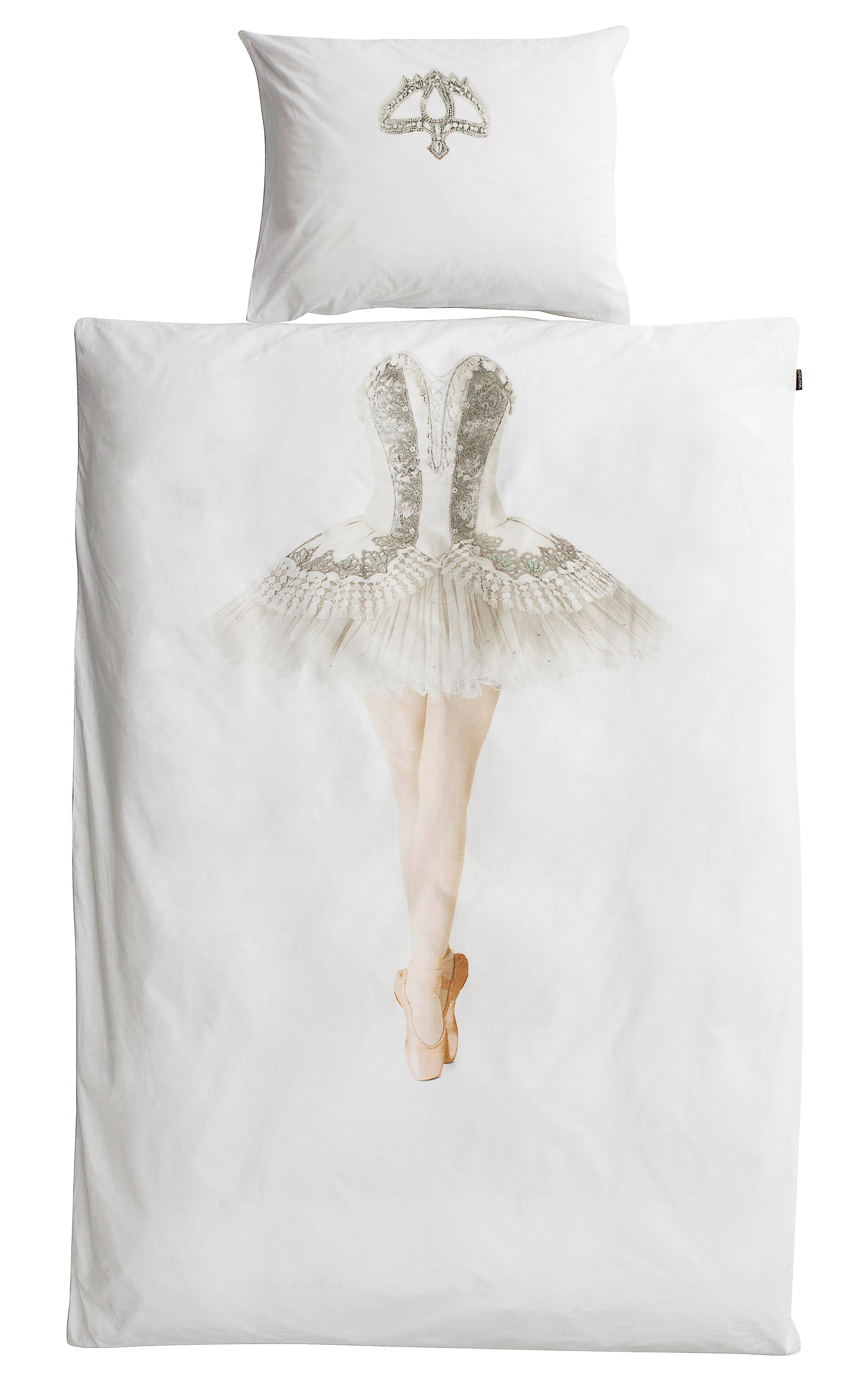 Interni - Per bambini - Biancheria da letto 1 persona Ballerine - / 1 persona - 140 x 200 cm di Snurk - Ballerina - Percale de coton