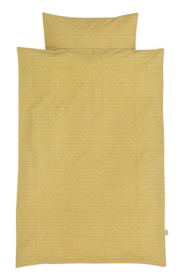 Interni - Per bambini - Lenzuola Rose Stick Junior / 100 x 140 cm - Ferm Living - 100 x 140 cm - Giallo curry - Cotone