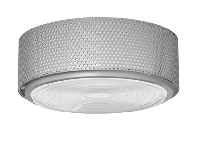 Lighting - Ceiling Lights - G13 Large Ceiling light - / Reissue 1952, Pierre Guariche by SAMMODE STUDIO - Grey - Glass, Metal