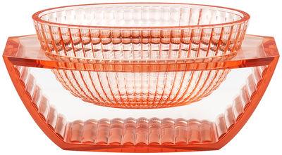 Centre de table U Shine / Vide-poches - Kartell rose transparent en matière plastique