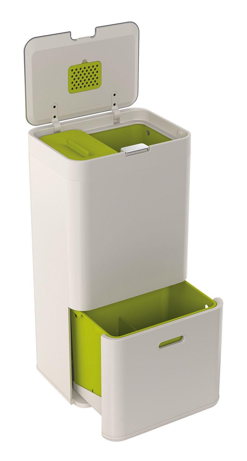 Cucina - Cestini - Cestino per raccolta differenziata Totem - / 60 litri - 4 contenitori amovibili di Joseph Joseph - Pietra - Acciaio, Materiale plastico