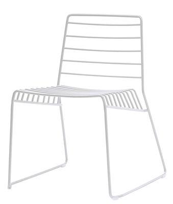Chaise empilable Park / Métal - B-LINE blanc en métal