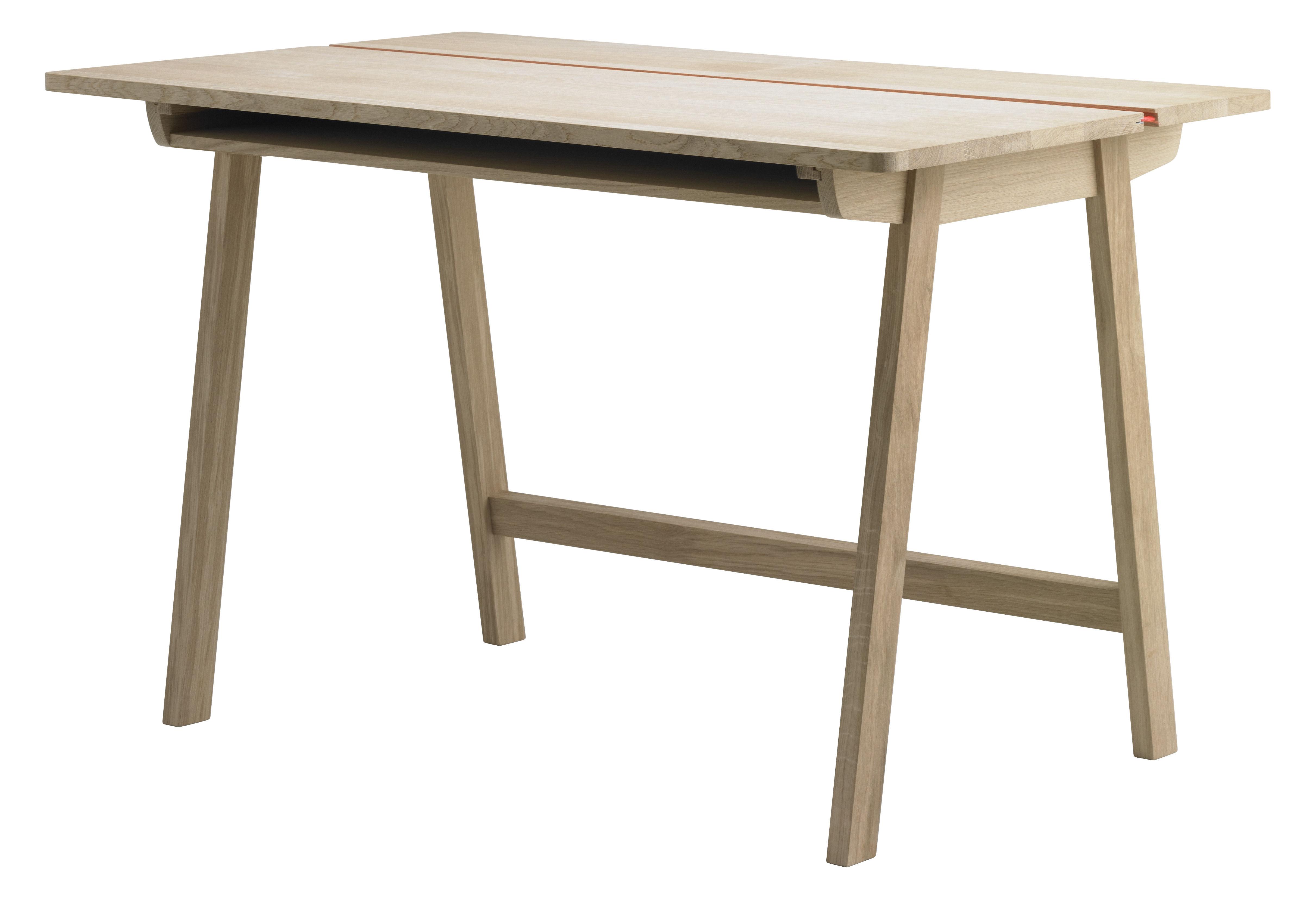 Furniture - Teen furniture - Landa Desk - L 120 cm by Alki - 120 x 70,5 cm - Natural oak - Oak, Plywood veneer oak