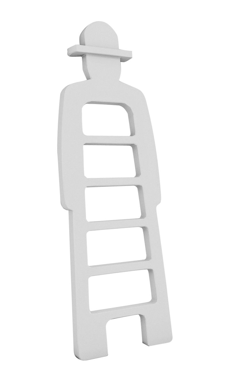 Mobilier - Mobilier Kids - Echelle Mr Giò / Porte-serviettes - Slide - Blanc - Polyéthylène