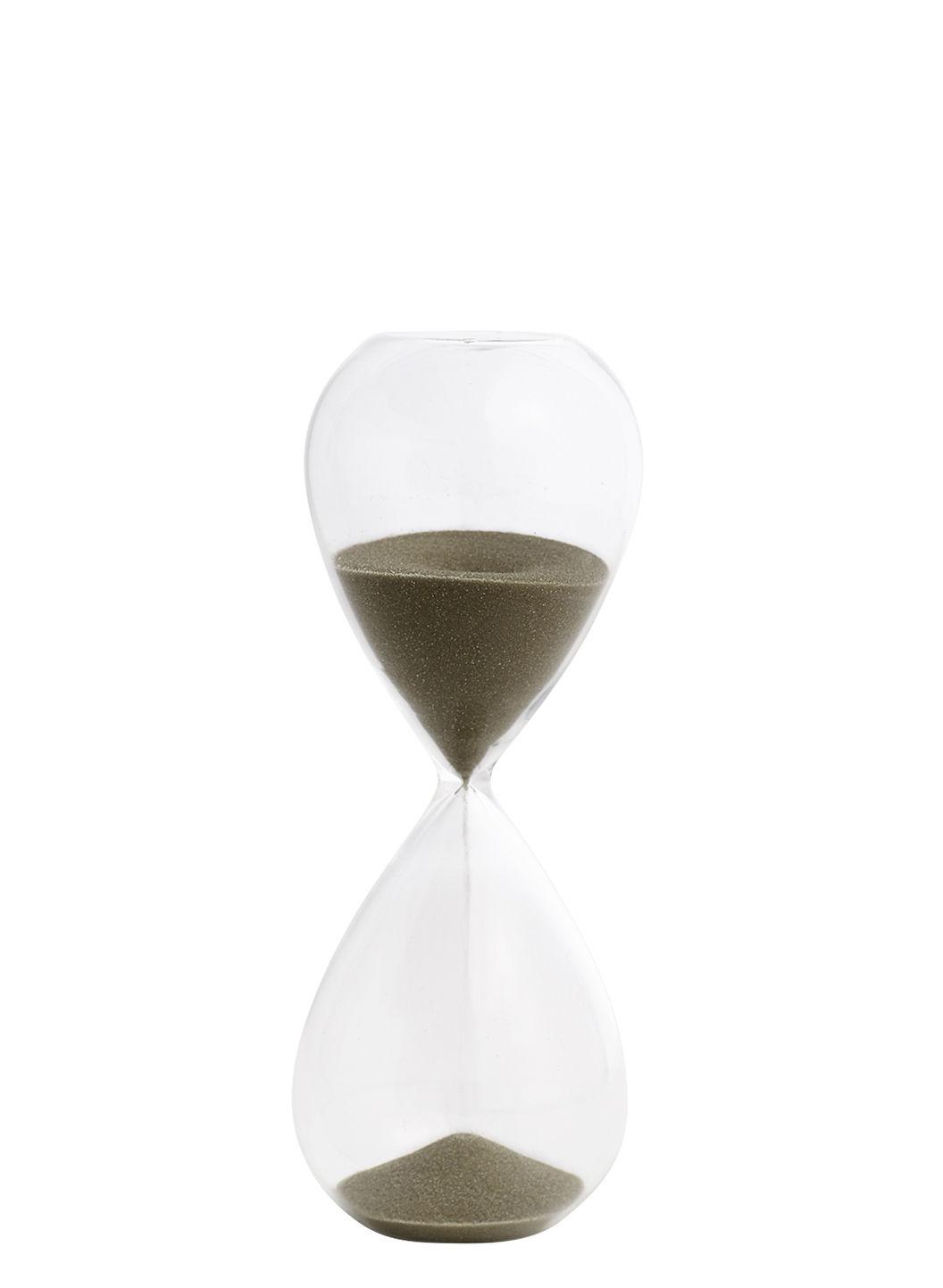 Kitchenware - Kitchen Equipment - Time Medium Egg timer - / 15 minutes - H 15 cm by Hay - Transparent / Gold - Glass, Sand