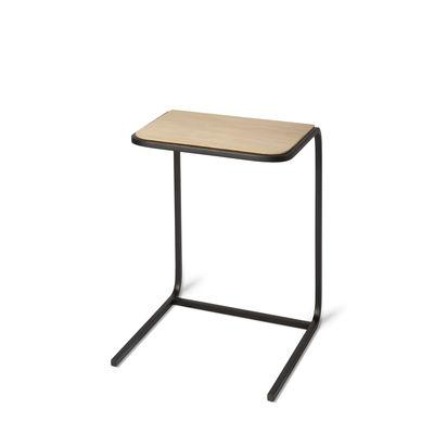 Furniture - Coffee Tables - N701 End table - / Solid oak & metal - 40 x 25 cm by Ethnicraft - Oak & black - FSC-certified solid oak, Varnished metal