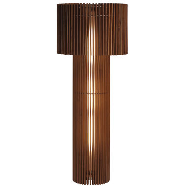 Lighting - Floor lamps - Wood Lamp Floor lamp - Floor lamp by Skitsch - Teak - Stainless steel, Teak