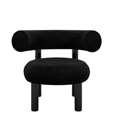 Fat Gepolsterter Sessel / Velours - Tom Dixon - Schwarz