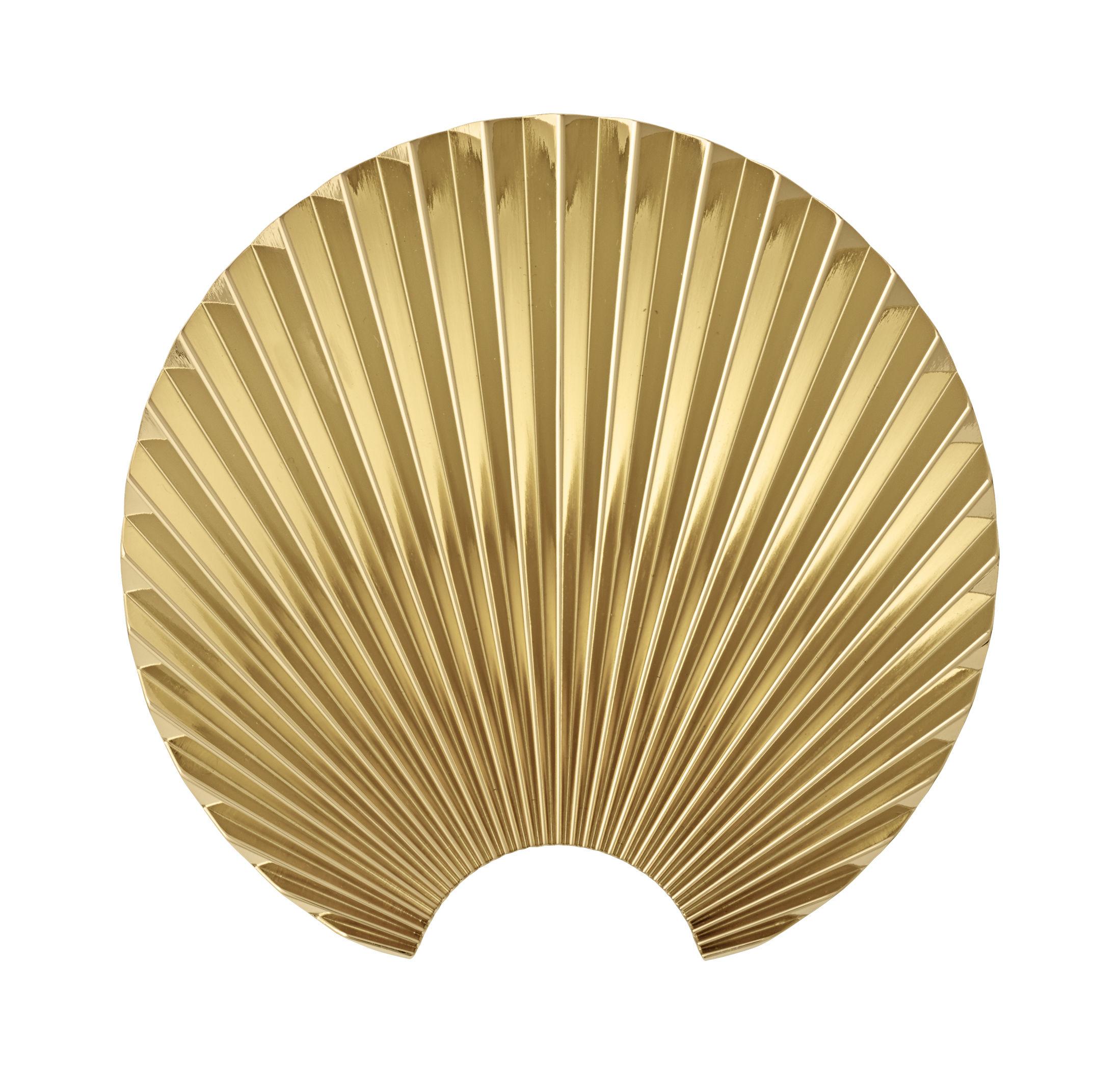 Furniture - Coat Racks & Pegs - Concha Hook - / Zamak - L 4.8 x H 15.5 cm by AYTM - Gold - Zamac