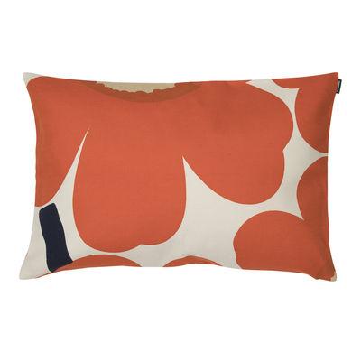 Déco - Coussins - Housse de coussin Unikko / 60 x 40 cm - Marimekko - Unikko / Orange - Coton, Lin