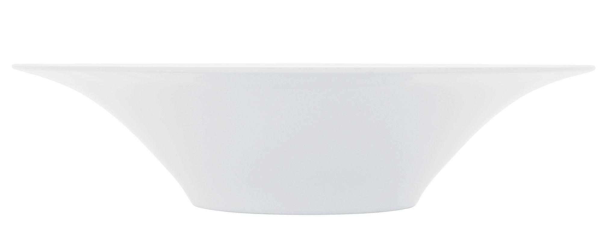 Tavola - Ciotole - Insalatiera Ku di Alessi - Bianco - Porcellana