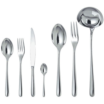 Tableware - Cutlery - Caccia Kitchen cupboard - For 12 people by Alessi - 75 pieces - Mirror polished stainless steel - Steel