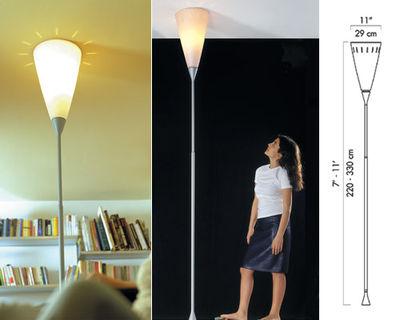 Illuminazione - Lampade da terra - Lampada a stelo Chichibio - Plafoniera di Luceplan - Bianco - Alluminio, policarbonato