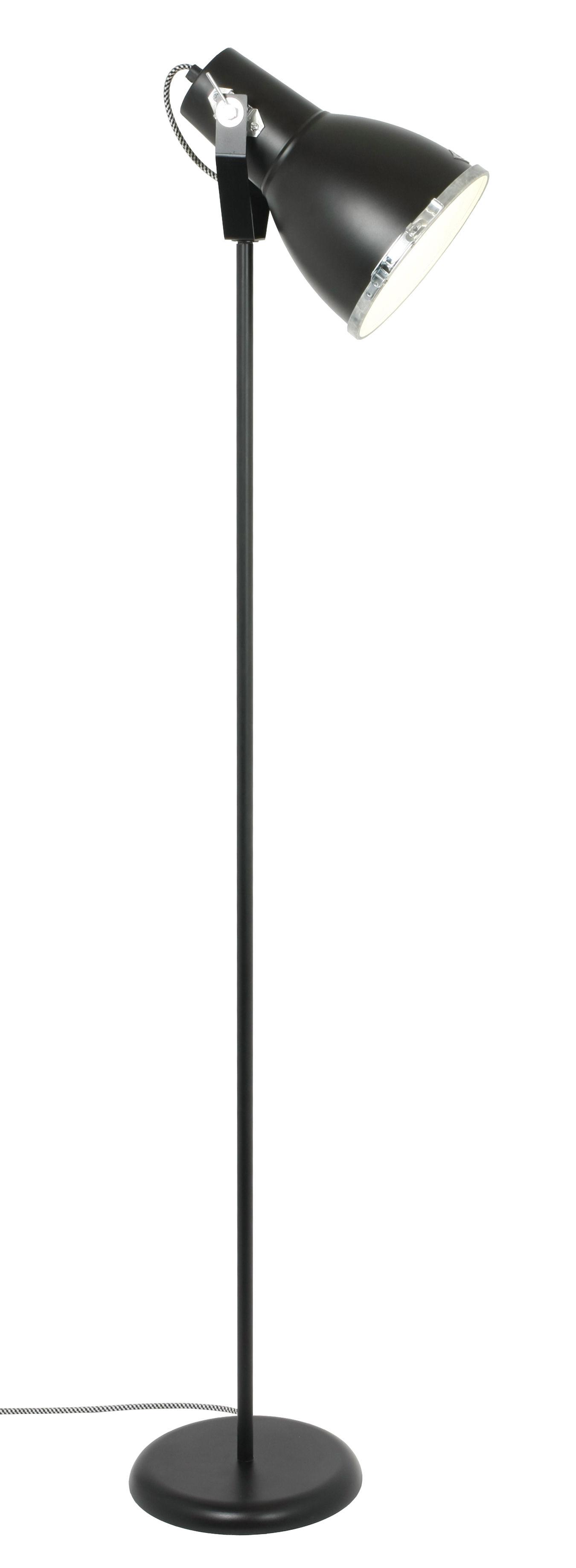 Illuminazione - Lampade da terra - Lampada a stelo Stirrup 2 - / Metallo - H 158 cm - Orientabile di Original BTC - Nero - Alluminio