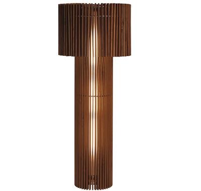Image of Lampada a stelo Wood Lamp - abat-jour transformable di Skitsch - Legno naturale - Legno
