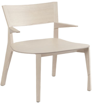 Furniture - Armchairs - Gavotte Low armchair by Moustache - Natural wood - Ash plywood, Ashwood