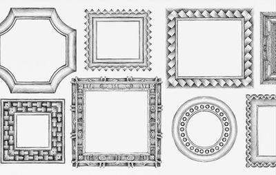 Papier peint Cadres horizontaux / 1 lé - Domestic blanc/noir en papier
