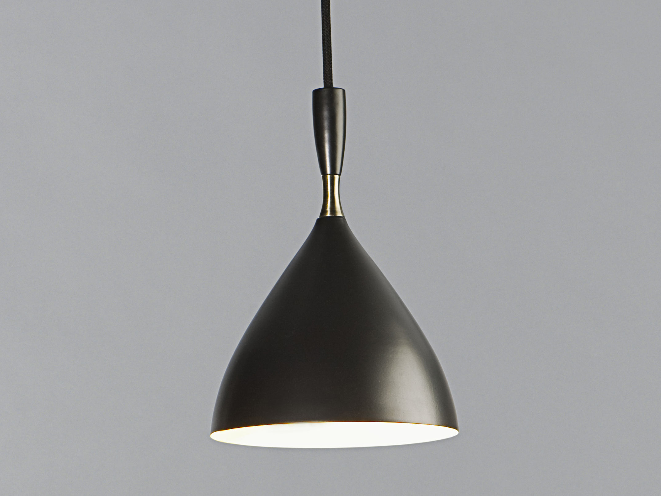 Lighting - Pendant Lighting - Dokka Pendant - reissue 1954 by Northern  - Black - Steel